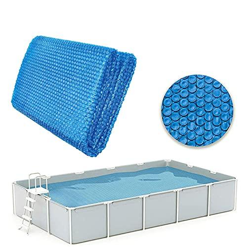 fuaensm Cubierta de piscina, cubierta solar para piscinas de