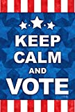 Toland Home Garden Keep Calm and Vote 12.5 x 18 Inch Decorative Political Election Garden Flag