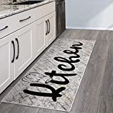 SussexHome Non Skid Washable Kitchen Runner Rug - Ultra-Thin 70%...