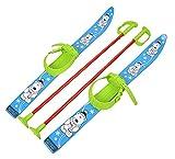 Sci per bambini con attacchi e bastoncini, in plastica, 6colori, 70cm, Blau