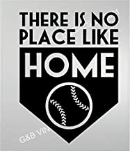 """Baseball There Is No Place Like Home Vinyl Wall Decal 13"""" X 17"""" Kids Room Sports"""