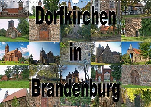 Dorfkirchen in Brandenburg (Wandkalender 2021 DIN A3 quer)