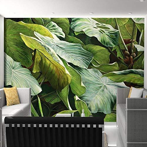 Papel Tapiz 3D, Bosque Tropical Lluvioso Del Sudeste Asiático, Hojas Verdes, Murales Fotográficos, Sala De Estar, Tema De Hotel, Telón De Fondo, Paño De Pared