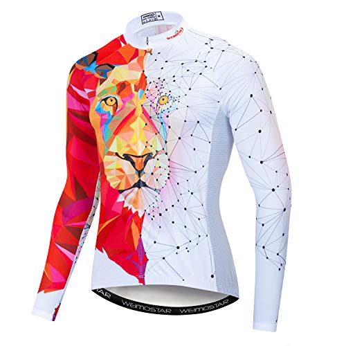 Maillot de ciclismo para hombre, maillot de manga larga para primavera y...