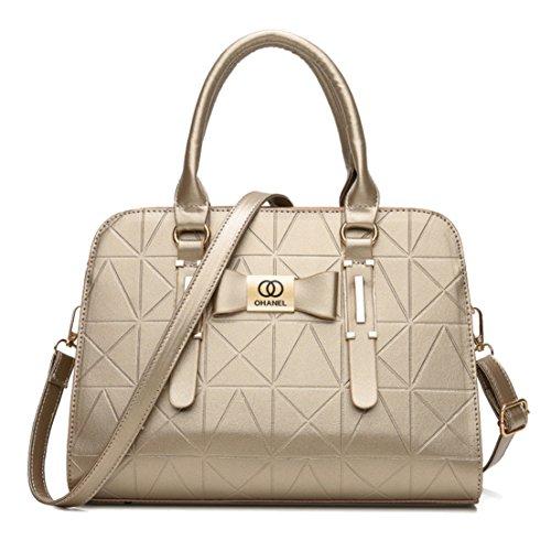 Seaoeey Dam axelväska mamma väska bärbara handväskor PU läder väska för kvinnor