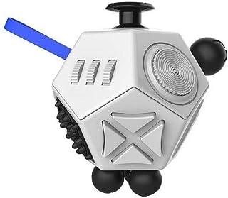 リタプロショップⓇ 12面 フィジェットキューブ Fidget Cube フィジェットトイ ストレス解消キューブ 無限キューブ (ホワイト)