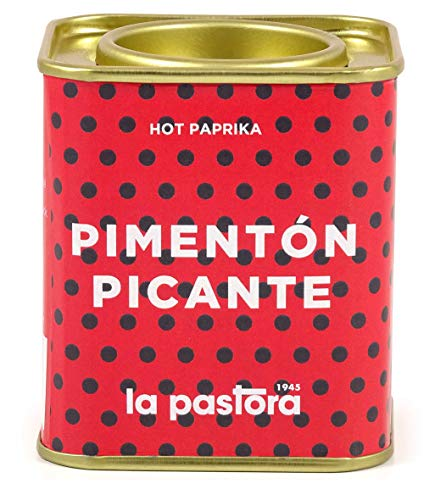 LA PASTORA   Scharfe Paprika   75g Dose   100% Natürliches Paprikapulver   Kräftiges Antioxidans   Geeignet für Zöliakiebetroffene   Würzen Sie Ihre Mahlzeiten   Spanische Paprika