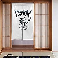 のれん のれん Venom おしゃれ 86x143cm丈 ドア カーテン 間仕切り 断熱 防寒 目隠し 遮光 和風のれん インテリア 玄関 居間 台所 部屋 更衣室 居酒屋 料理屋 出入り口で使用する