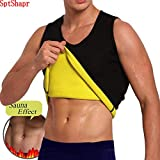SHAPERBODY Men's Hot Sweat Body Shaper Tummy Fat Burner Tank Top Slimming Neoprene
