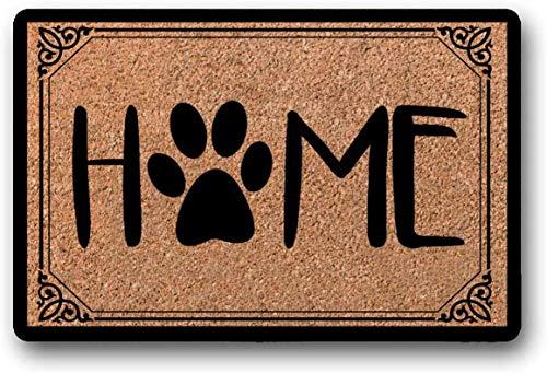 Yolocal Home Felpudo con diseño de huellas de perro, felpudo de gato lindo felpudo para perro mamá gato amante de la bienvenida Mat perro amante felver felpudo al aire libre 45 x 75 cm