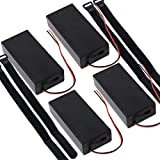 abcGoodefg 18650 Battery Holder with ON/Off Switch, 2 Slotes 3.7V Plastic 18650 Battery Storage Box Case with Leads Wire 4 Pack