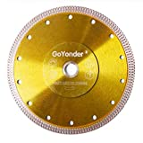 GoYonder 7 Inch Diamond Saw Blade,Super Thin Diamond Saw Blade for Cutting Ceramic Porcelain Tile Granite Marble Suitable for Angle Grinders with 7/8' or 5/8' Arbor