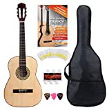 Classic Cantabile Acoustic Series AS-851-L guitarra clásica 7/8 set de inicio para zurdos