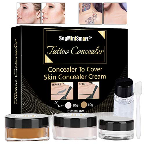 Tattoo Cover,Tattoo Concealer,Concealer,Tattoo Entferner,Professionelle Wasserdichte Tattoos vertuschen Make-up Concealer Tattoo Narbe Muttermale Vitiligo Set…