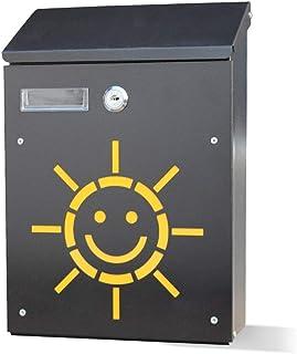 L.TSAポストボックスレターボックスパストラルクリエイティブメールボックス壁掛け提案ボックスくり抜き韓国語ミニメールボックスメールボックス(色:太陽)