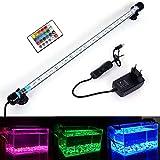 MLJ Acuario LED Iluminación, Iluminación LED para Acuarios Plantados Lámpara LED para Peceras Resistente al Agua Luz para (Deutschland Lagerhaus) (48cm, RGB)