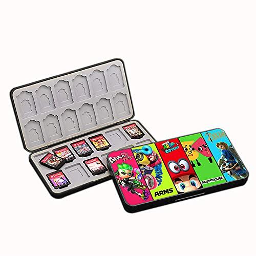 SUITCAN 24 tarjetas de juego para Nintendo Switch o Micro SD tarjetas de memoria plegables, funda protectora rígida, resistente a los golpes, resistente al agua
