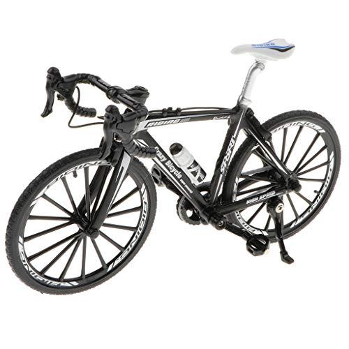 non-brand 1:10 Escala Modelo de Bicicleta de Carrera/Montaña/Ciudad de Simulación Aleación Juguete de Diversión para Niños - Negro
