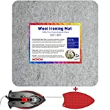 MOHOM 13.5' x 13.5' Wool Pressing Mat 100% New Zealand Felted Wool Ironing Mat Pad Blanket for Quilter, Sewing, Quilting Supplies and Notions