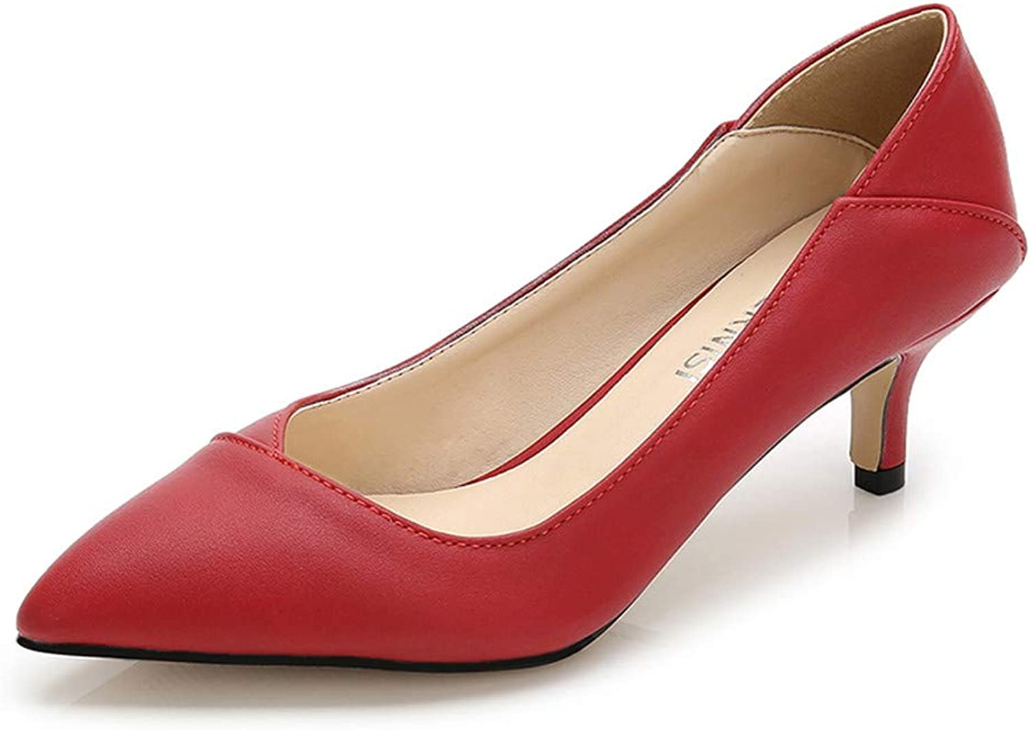 goldencar Dress shoes Pointed Toe Women Pumps Leather Office&Career Women shoes Thin Heels Stilettos Big Size