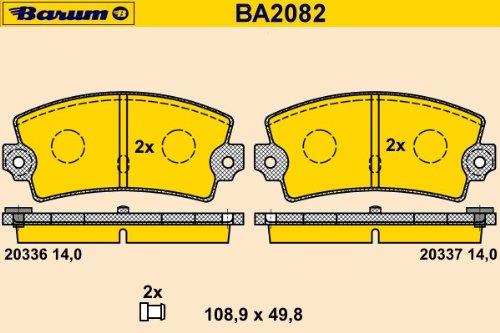 Barum BA2082 Kit de patins de frein, disque de frein