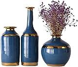 La decoración del hogar de la Flor Hecha a Mano de cerámica Vasess Boda Agua Cultivo de Plantas Tiesto Set Conjunto de 3 Piezas de Mesa 1627cm floreros