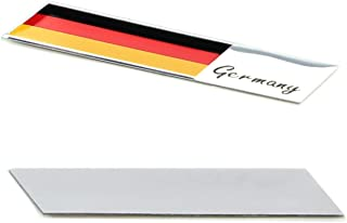 iJDMTOY Aluminum Plate Germany Flag Emblem Badge For Germany Car Front Grille, Side Fenders, Trunk, Dashboard Steering Wheel, etc