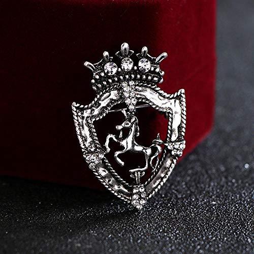 Broche vintage strass kleine kroon dantelende broche voor heren pak corsage paard revers pin badge kleding & accessoires B