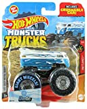 Hot Wheels Monster Trucks 2020 1:64 Scale Truck with Crushable Car #68/75 HW Flames #5/5 VW Volkswagen Drag Bus