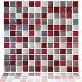 Yoillione 3D Mosaic Tile Sticker Removable...
