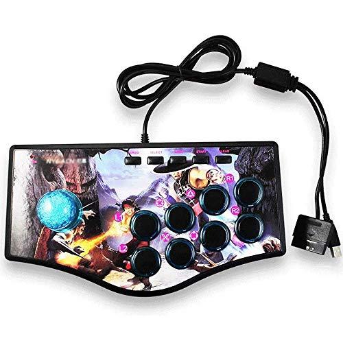Xjdmg Arcade Joystick Gamepad Plug and Jouer à Street USB Feeling Fighting Rocker contrôleur de Jeu (Color : A)
