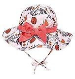 Cappellino Bambina Sole Estivo Cappello Protezione Solare Berretto Cotone Primavera Estivo Arco Rosa 52cm 2-4 Anni