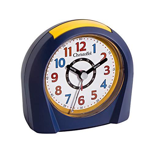 Christoffel Kinderwecker Quarz Arabische Zahlen Schleichende Sekunde Alarm Licht Snooze 1001-05