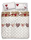 Confezioni.Giuliana Trapunta Invernale 1 Piazza Singola 2 PIAZZE Matrimoniale Orsetto Teddy Rosso (2 Piazze)