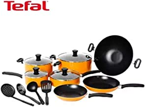 Tefal prima cooking set 15 pieces pots and pans set, non stick coating, dishwasher safe