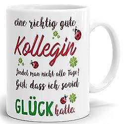 Mugvilla Tasse mit Spruch eine richtig Gute Kollegin. Hochglänzender Kaffeebecher ab 1 Stck./Mug/Cup Qualität Made in Germany