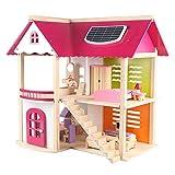 Lineary-Toy Kinderspielzeug Rollenspiel Kinder Spielzeug Robust Holz Uptown Puppenhaus Mit Möbel...