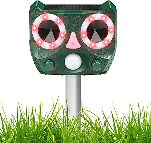 Ultraschall Katzenschreck für Garten, Solar Tiervertreiber, Ultraschallvertreiber, Ultraschallabwehr, Katzenabwehr, Hundeschreck, Marderschreck, Ultraschallschreck, Katzenvertreiber