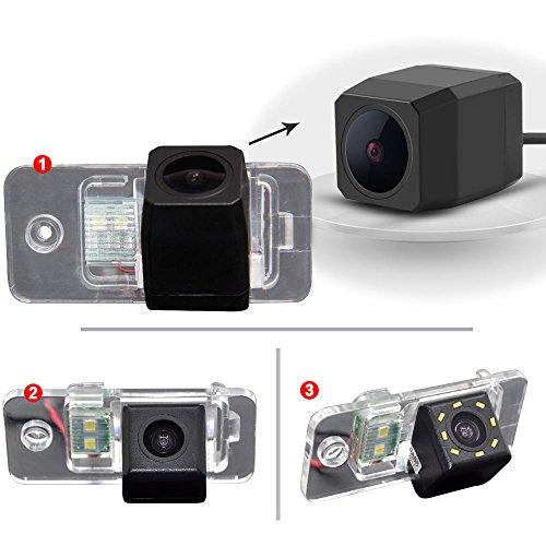 Dynavsal 170 ° bekijken reversing track camera liniaal lijn met het stuur bewegen achteruitzicht back-up trajectorie camera parkeerplaats assistent systeem, nachtzicht CCD voor A3/S3/A3 Cabrio/ A4/S4 (B6,8E/8H)/ A6 (4F)/ A8 (S8)/ Q7/S6/RS4 Cabrio/ RS6 Plus