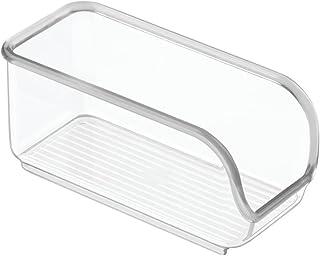 InterDesign Linus boîte de rangement pour sachets de sucre, petite boîte à sucre en plastique avec ouverture latérale pour...