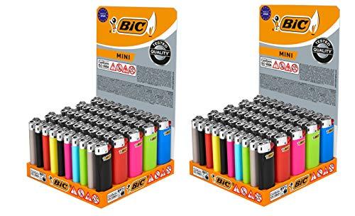 BIC Mini Flint Encendedores - Colores Surtidos, 100 encendedores