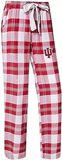 Concepts Sport Indiana University Hoosiers Women's Flannel Pajamas Plaid PJ Bottoms