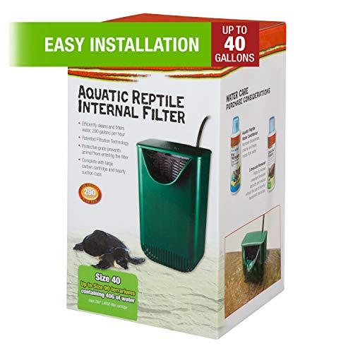 Zilla Internal Filter for Aquactic Reptiles, 40 Gals