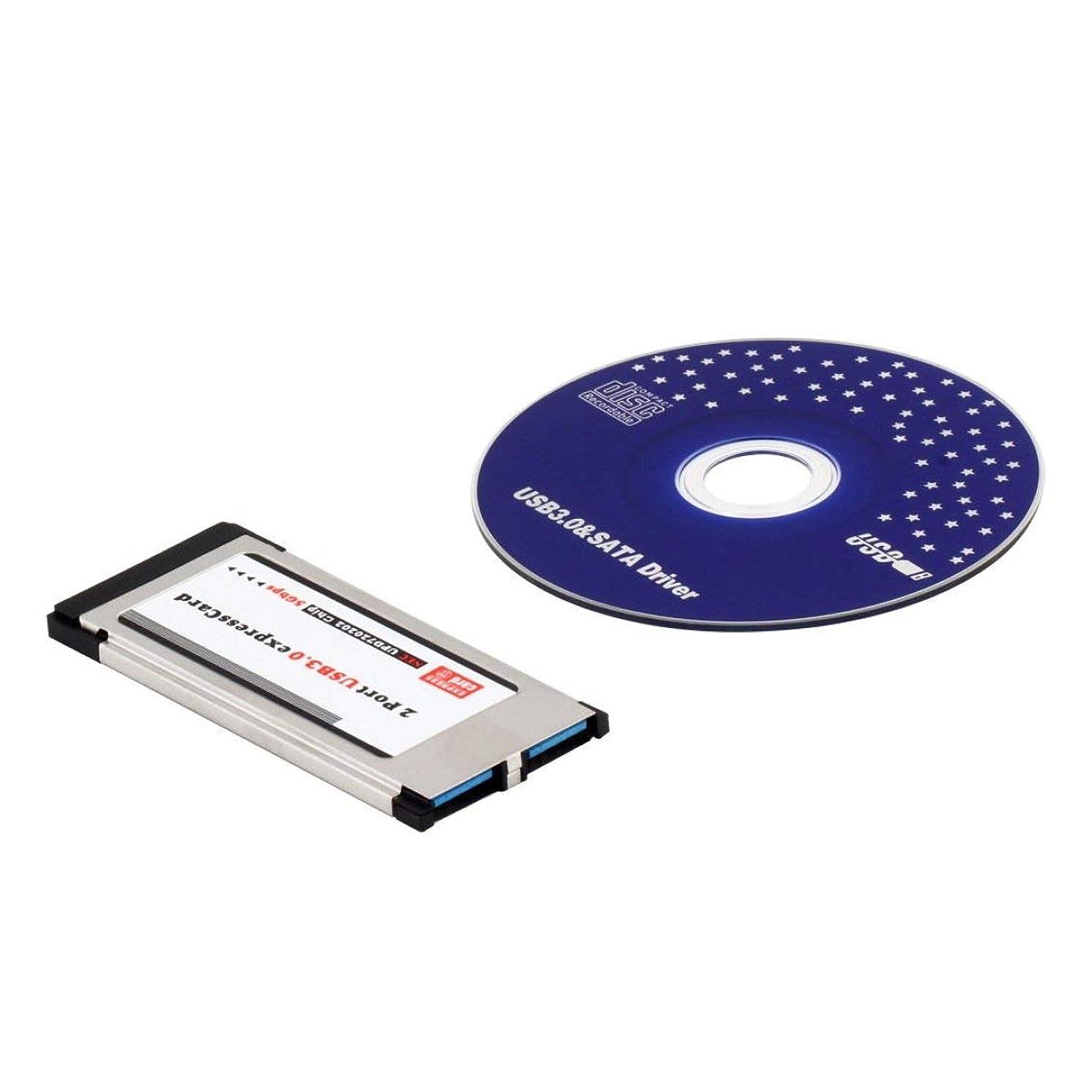 く学期言い訳Followmyheart 高速フルスピードExpressカードExpressカード - USB 3.0 2ポートアダプタ34 mm Expressカードコンバータ5Gbps転送速度