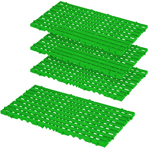 Bodenrost, grün, LxBxH 800x400x25 mm, 1,28 m², VE= 4 Stück