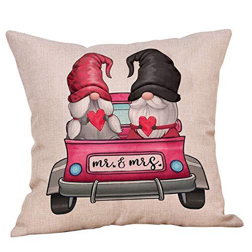 Janly Clearance Sale Funda de almohada, diseño de muñecos sin rostro, para Navidad, hogar y jardín, (C)