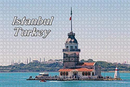 Rompecabezas para Adultos Torre de la Doncella de Turquía Rompecabezas de Estambul 1000 Piezas Recuerdo de Viaje de Madera