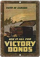 Cana Victory War Bonds ティンサイン ポスター ン サイン プレート ブリキ看板 ホーム バーために