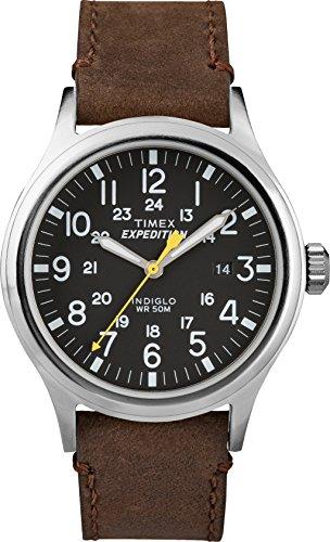 Timex Reloj Analógico para Hombre de Cuarzo con Correa en Cuero TWC004500