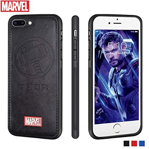 Funda iPhone 8 Plus/iPhone 7 Plus Carcasas Protectora Marvel Avengers para Celular Funda TPU Funda de Cuero 3D Premium Resistente a los Arañazos